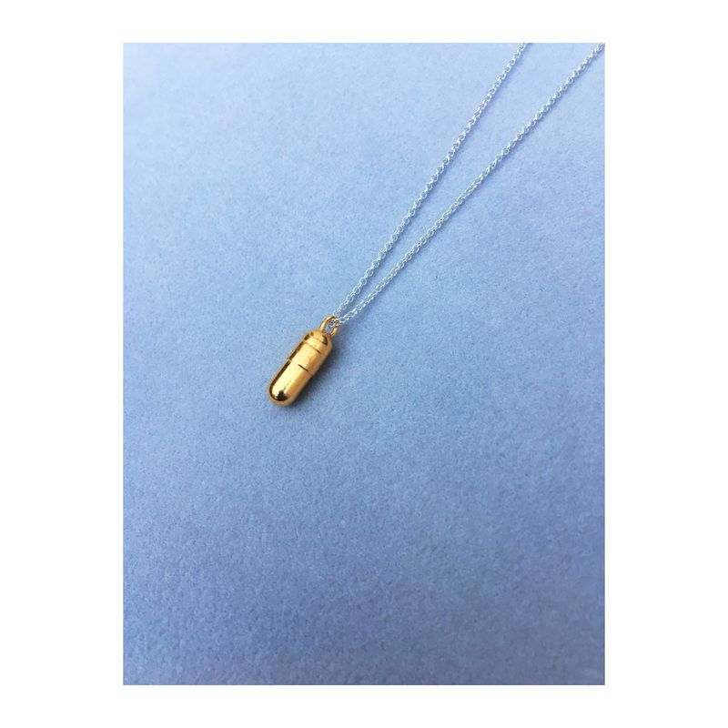 PILL PENDANT. Capsule necklace - product image