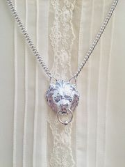LEO Lion Door Knocker Statement Pendant SILVER or GOLD - product images 2 of 4