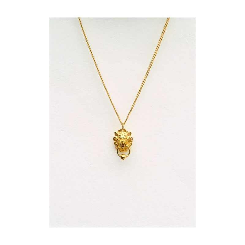 Not so Bold Leo pendant door knocker necklace  - product image