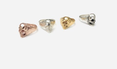 Small,Skull,Ring.,Silver,,oxidised,silver,,yellow,or,rose,gold,vermeil,small skull, skull, skull ring, silver skull, gold skull,