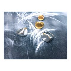 Classic Round Signet Ring - Silver or Gold - product images 4 of 7