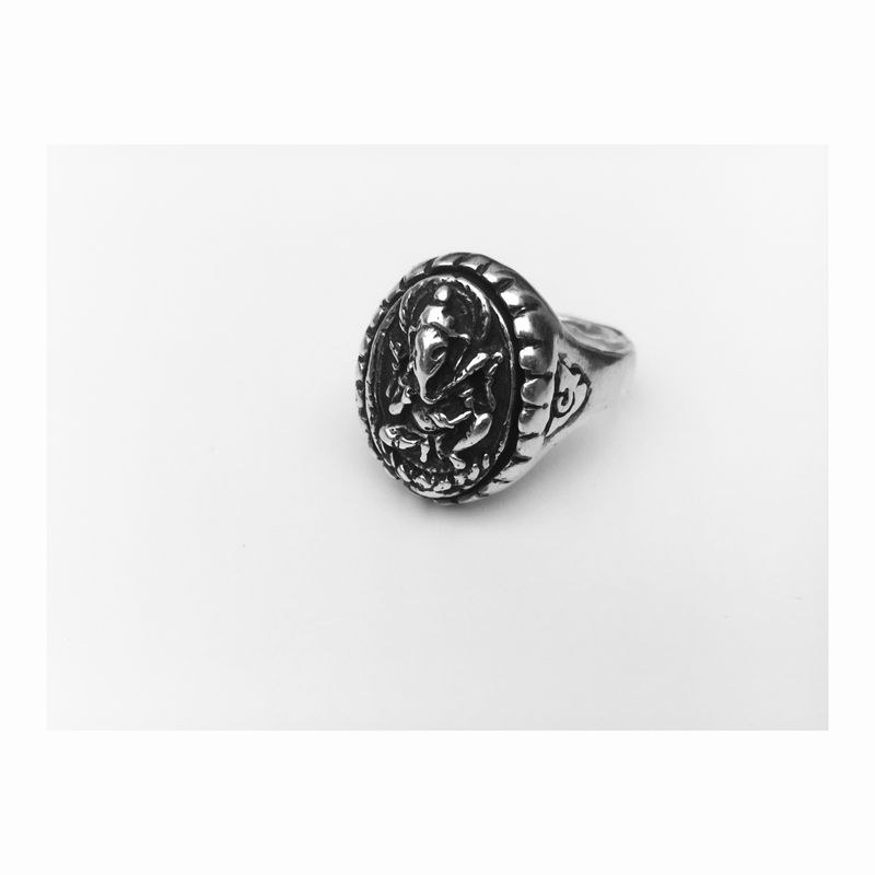 Ganesha Vintage Statement Ring remake - unisex, mens & women's jewellery - product images  of