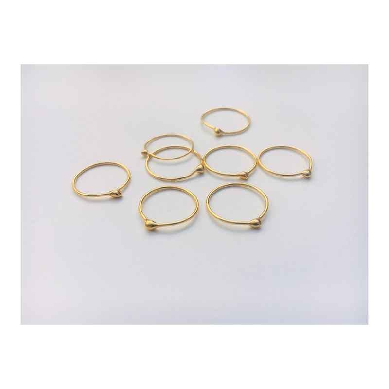 Sweet little shiny Blob stacking rings *sold in pairs - product image