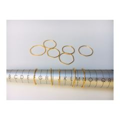 FAR stacking rings - perfectly imperfect *sold in pairs - product images 4 of 6