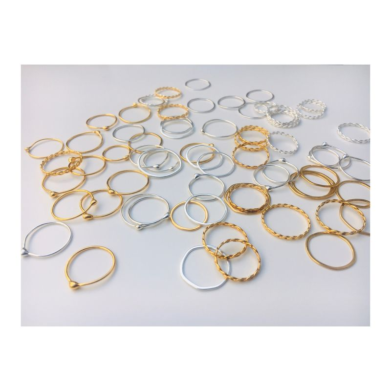 FAR stacking rings - perfectly imperfect *sold in pairs - product image