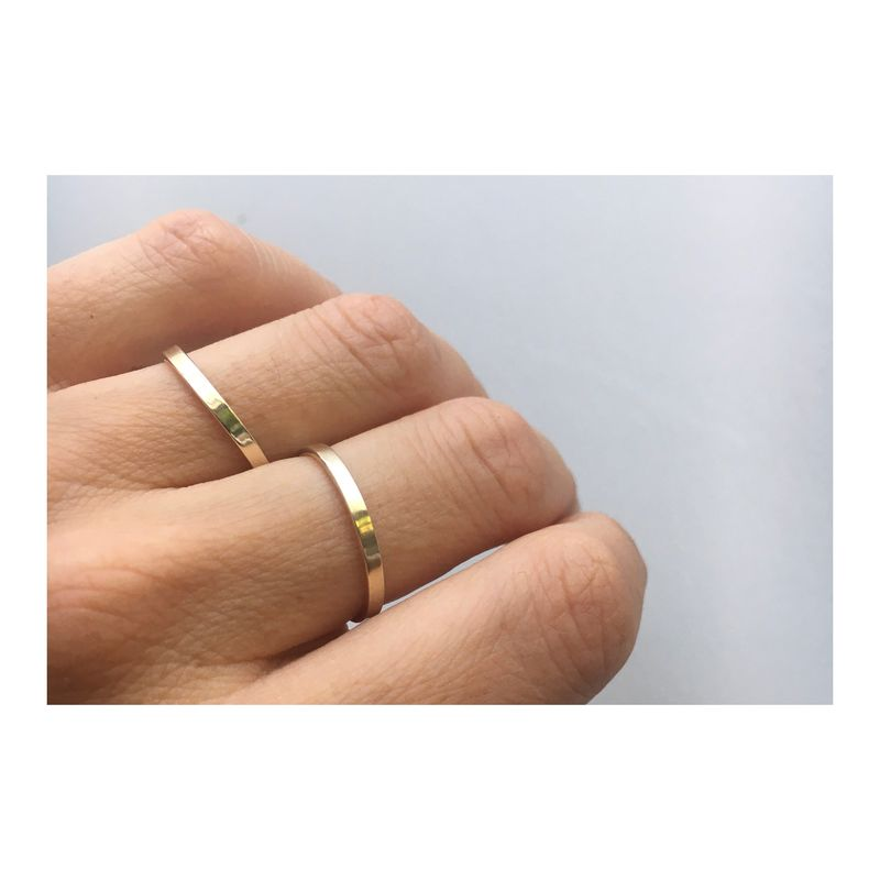9ct solid Gold - 2mm - Comfort fit Band/Ring. - product image