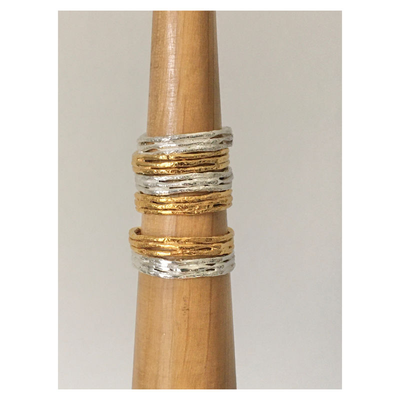 Twiggy Rings - Silver and Gold - product images  of
