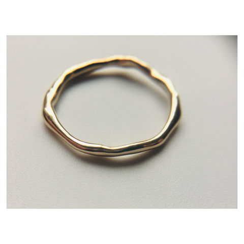 Skinny,Wobbly,Band,-,9ct,Solid,Gold,gold, 9ct gold, 9kt gold, solid gold, solid gold ring, gold ring, stacking ring, gold stacking ring, yellow gold ring, wobbly band, skinny wobbly band. organic ring, perfectly imperfect