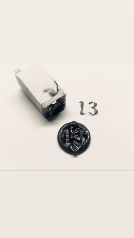 Old English Font wax Seal Initial Pendants - product images  of