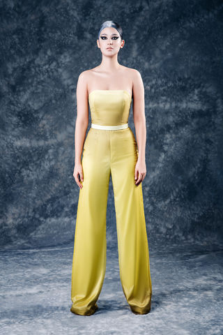 The,Xena,Jumpsuit,jumpsuit, yellow, chiffon, silk