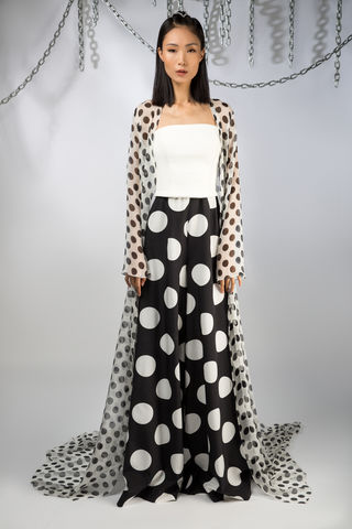 The,Domino,Cape,cape, chiffon, polkadot, silk