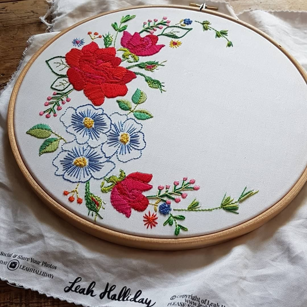 Printed Embroidery Pattern Rose - product image