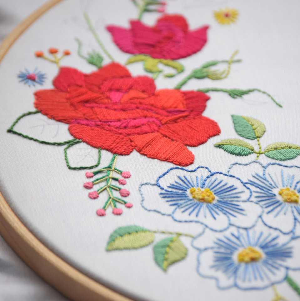 Printed Embroidery Pattern Rose - product images  of