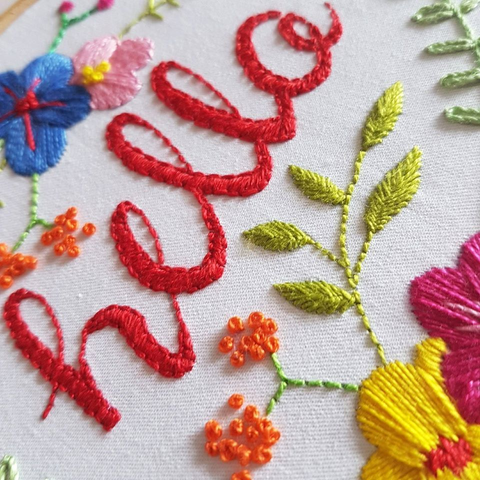 Printed Embroidery Pattern Hello - product images  of