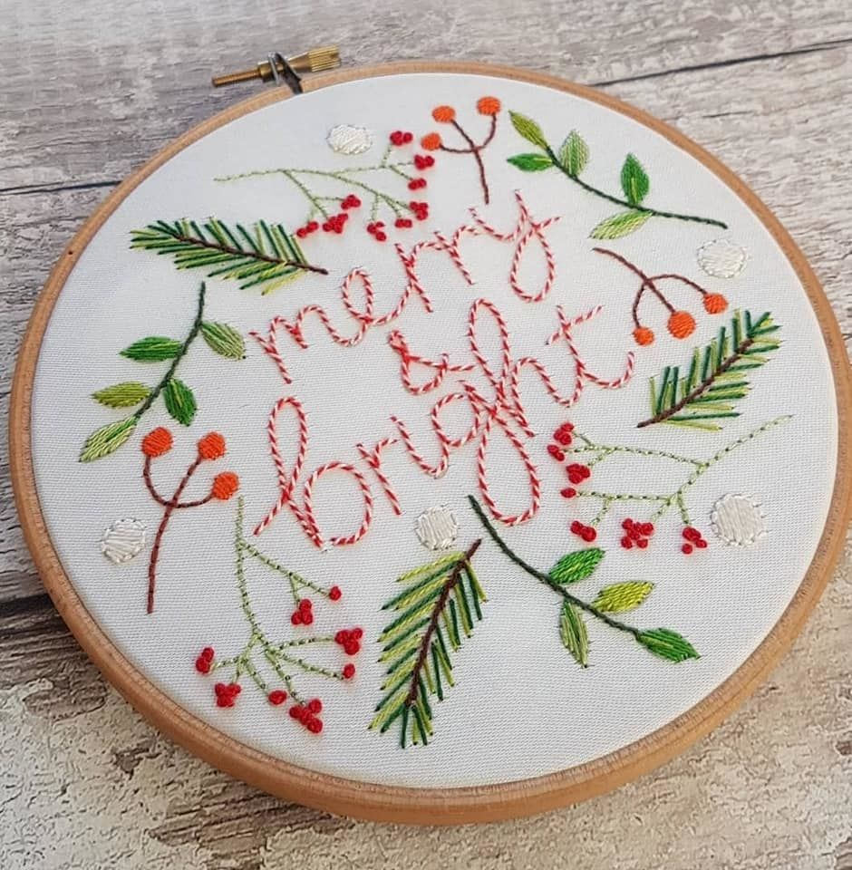 Printed Embroidery Pattern Merry & Bright - product image