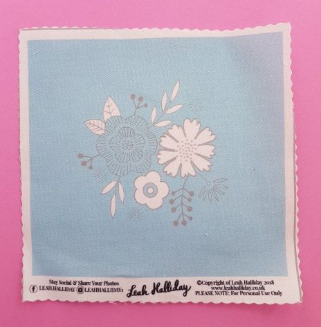 Printed Embroidery Pattern Small Floral Posy Blue - product images  of