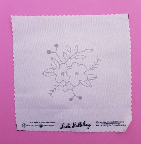 Printed Embroidery Pattern Flowers - product images  of