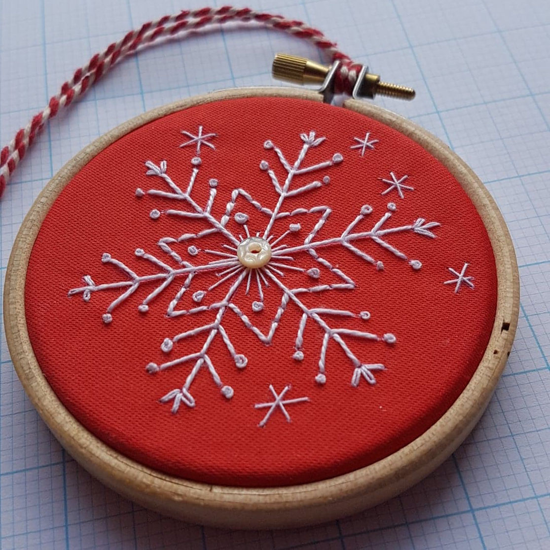 Printed Embroidery Pattern Snowflake - product images  of