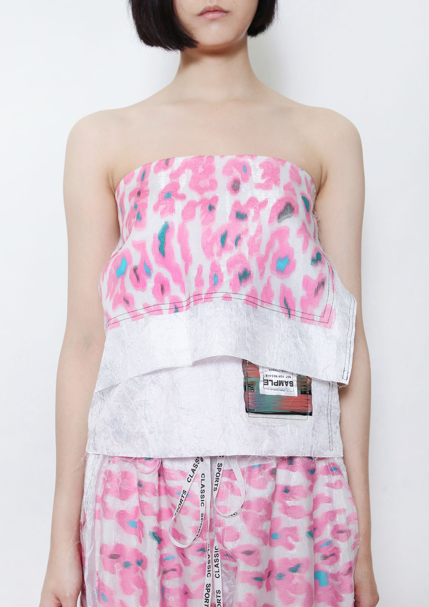 PINK CAMOUFLAGE TUBE TOP - product images  of