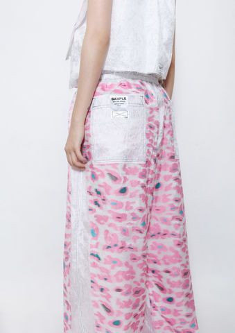 PINK,CAMOUFLAGE,WIDE,LEG,PANTS,8enny lin, ss16, online, buy, shop, webshop, designer, fashion, taiwan, cute, summer, sheer t-shirt, oversize, mesh top, cool, gift idea, love, girly, japanese style, minimal, monochrome, taiwan brand, label, handmade, tailor made,  CAMOUFLAGE ,