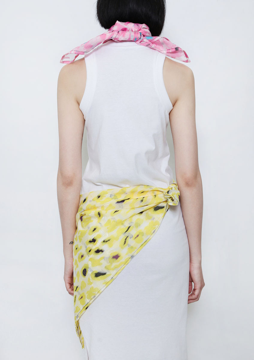 8ENNY LIN YELLOW CAMOUFLAGE SCARF - product image