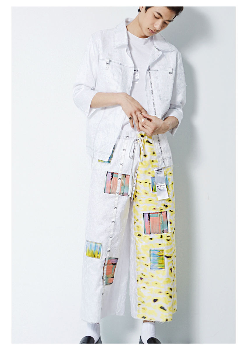 8ENNY LIN YELLOW CAMOUFLAGE COLOR TAGS CULOTTES - product image