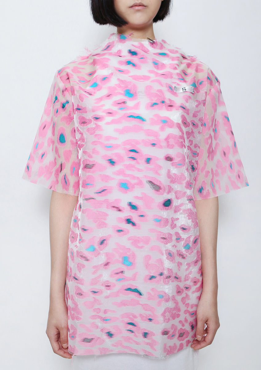 8ENNY LIN PINK CAMOUFLAGE TOP - product images  of