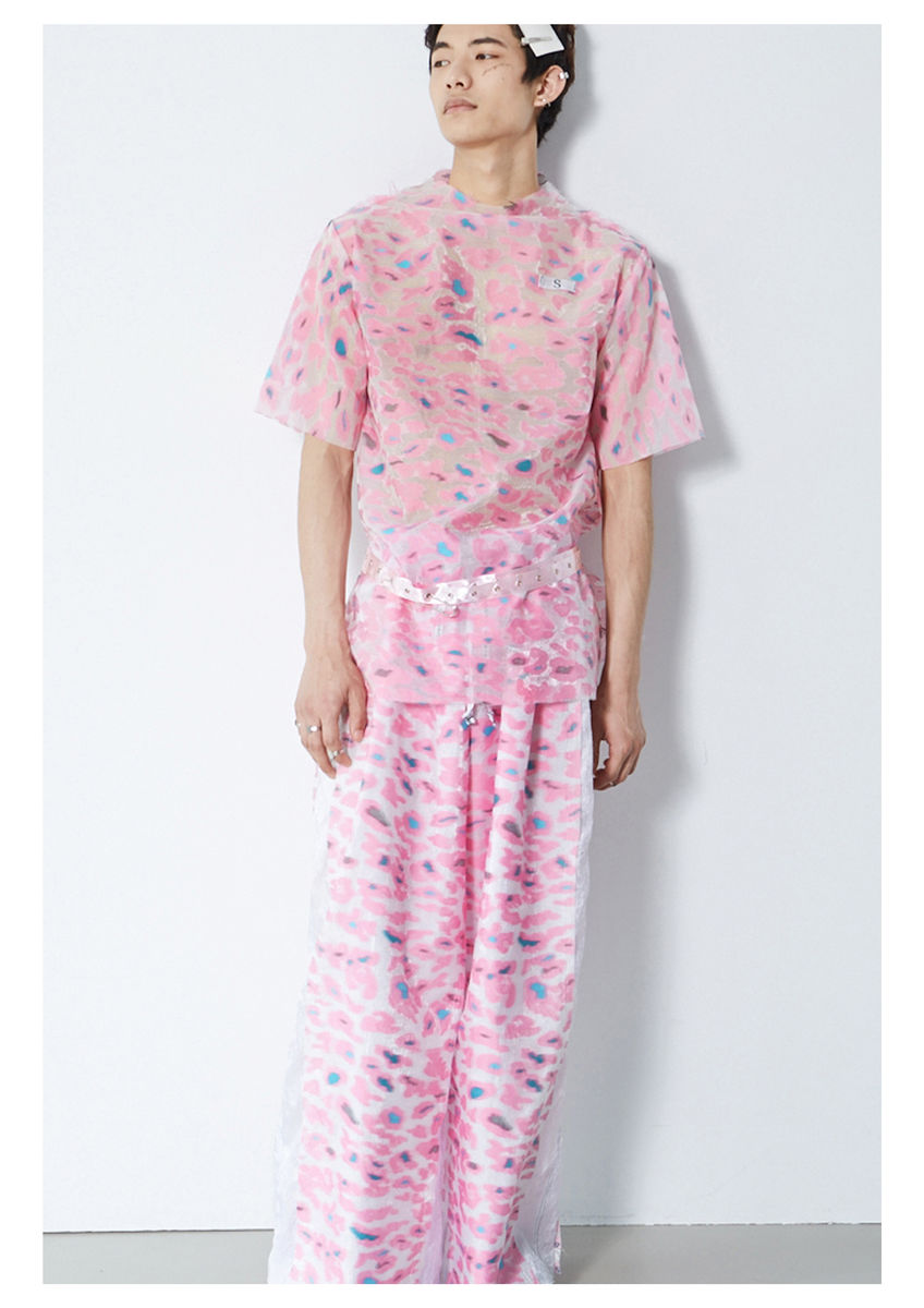 8ENNY LIN PINK CAMOUFLAGE TOP - product image