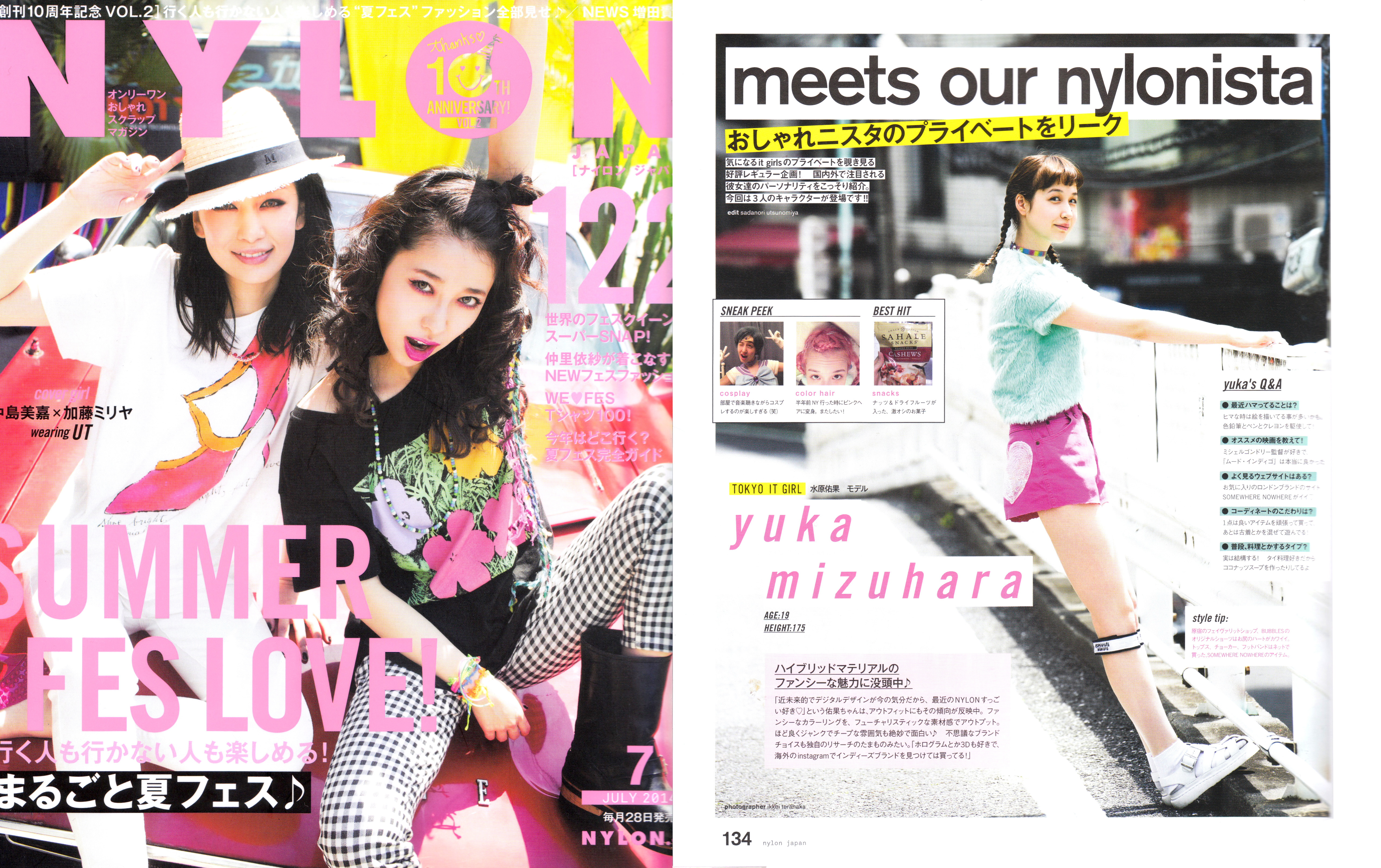 Featured in NYLON JULY 2014