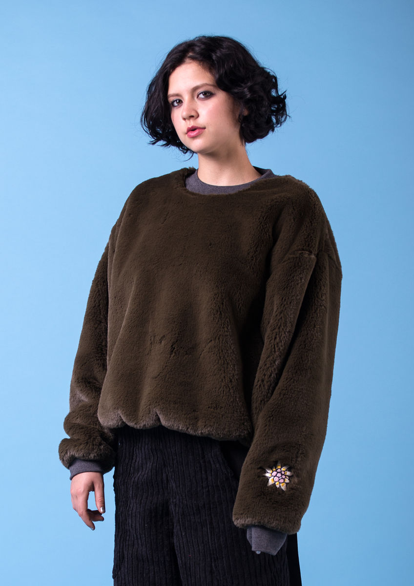 EDELWEISS FAUX FUR SWEATER - product images  of