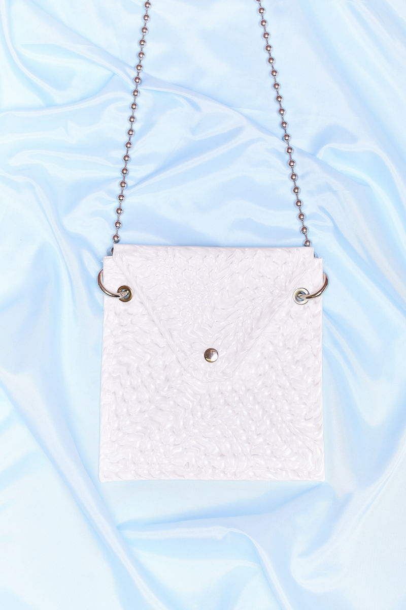 3D WHITE CROSS BODY BAG - product images  of