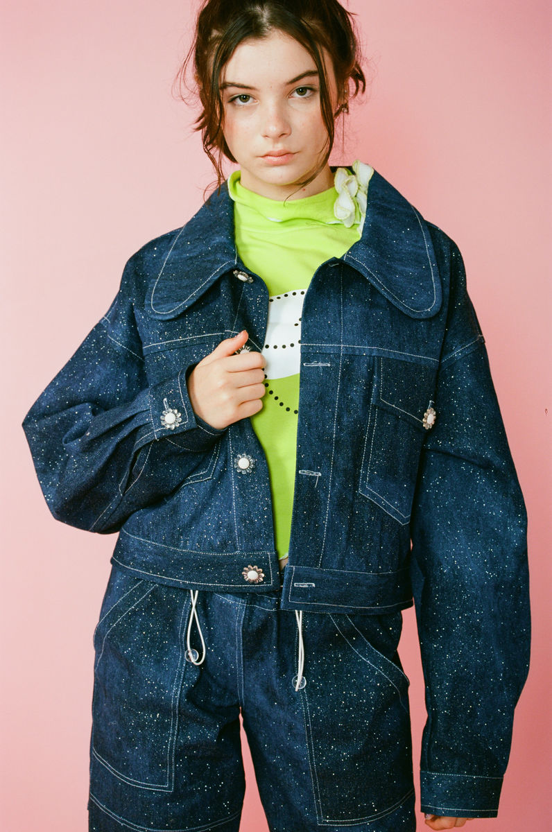 GLITTER GLAZE DENIM JACKET - product image