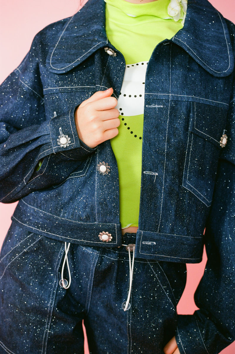 GLITTER GLAZE DENIM JACKET - product images  of