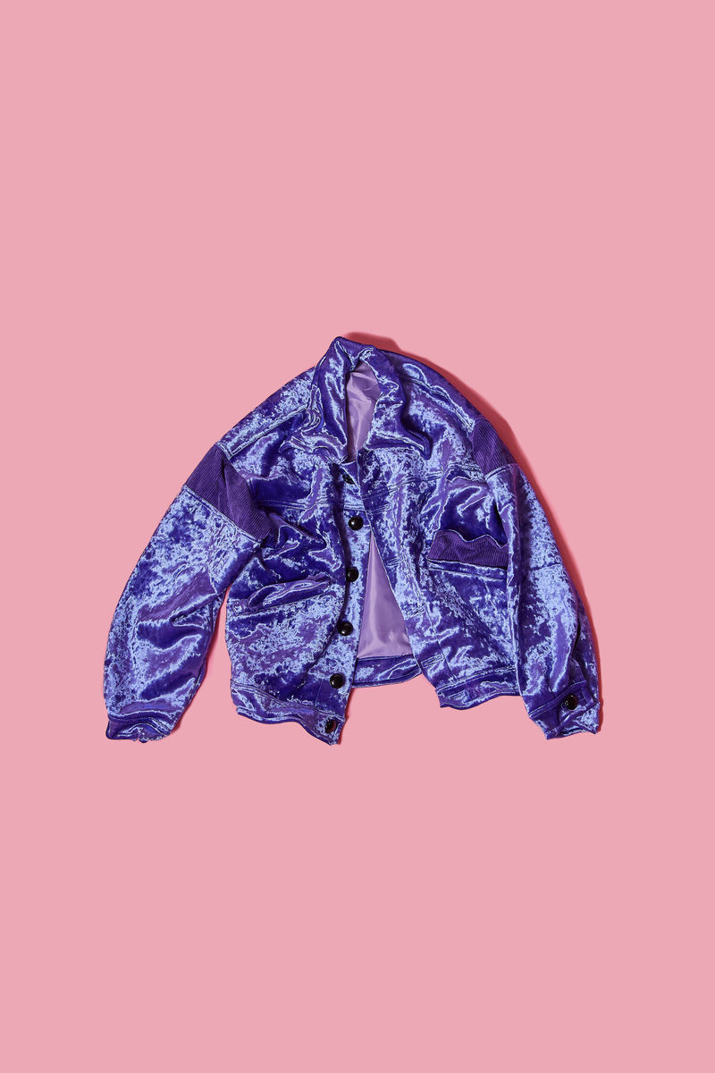 CRUSHED VELVET JACKET - product image