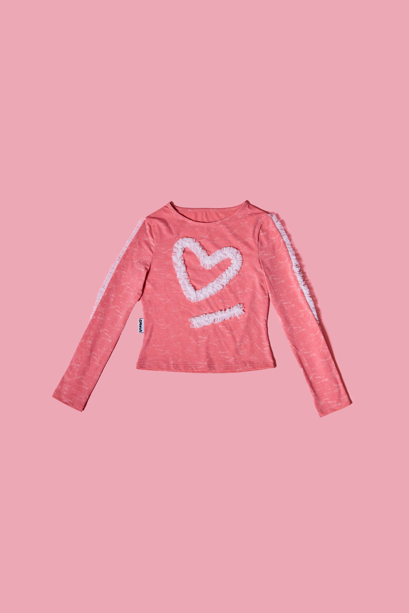 HEART FRILLS TOP - product images  of