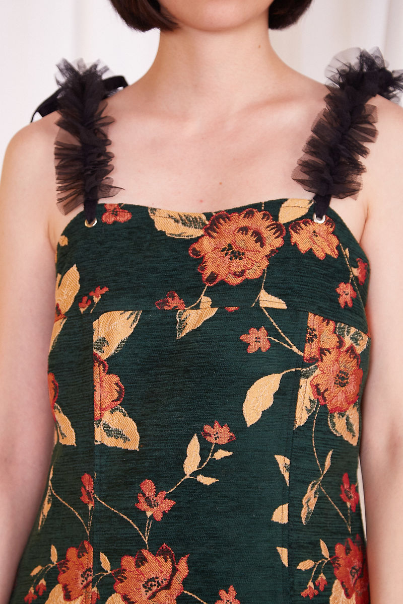 RETRO FLORAL PRINT DRESS - product images  of