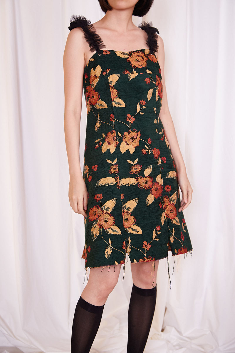 RETRO FLORAL PRINT DRESS - product image
