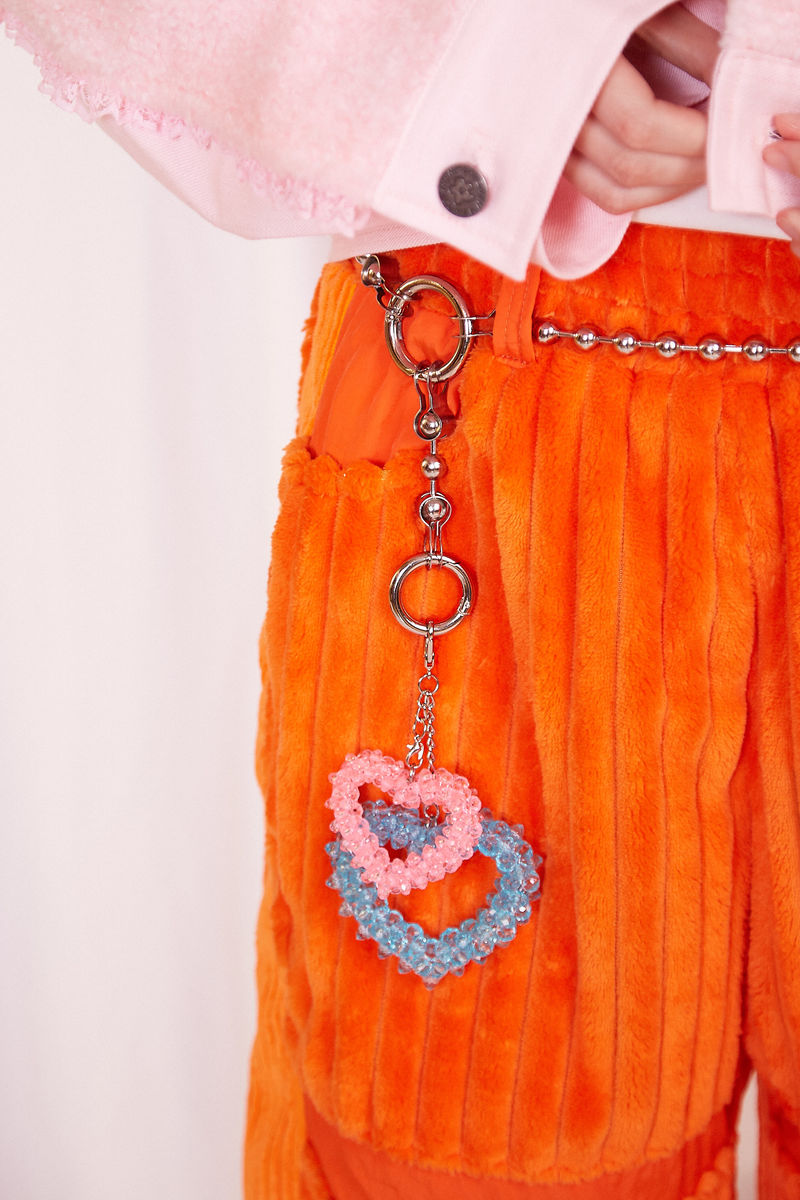 JUMBO CORDUROY WIDE LEG PANTS IN ORANGE - product images  of