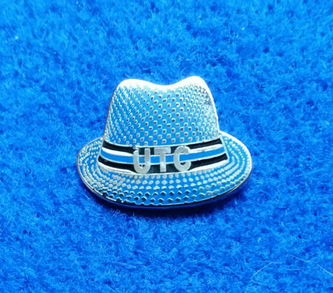UTC,Hat,'Up,The,Chels',Pin,Badge,Chelsea FC Enamel Badge Pin Football Souvenir Collectable UTC Up The Chels