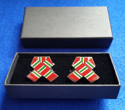 'MID,70'S,RETRO',CUFFLINKS,cufflinks Chelsea fc retro red green and white souvenirs xmas gift birthday gift