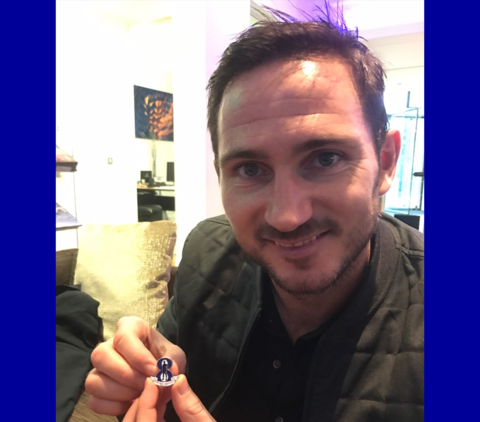 'Oh,Frankie,Lampard',Pin,Badge,Oh Frankie Lampard Chelsea FC Carefree Badge Pin Souvenir Memento CFC