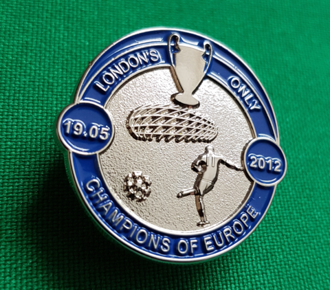 'London's,Only',Badge,Pin,LONDON'S ONLY CHAMPIONS OF EUROPE  Chelsea fc badge pin Munich 1905