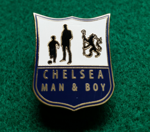 'Man,and,Boy',Badge,pin,Chelsea FC enamel badge pin Man and boy souvenir