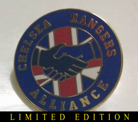 'Alliance',GOLD,Badge,pin,Chelsea FC enamel badge pin chelsea rangers souvenir alliance