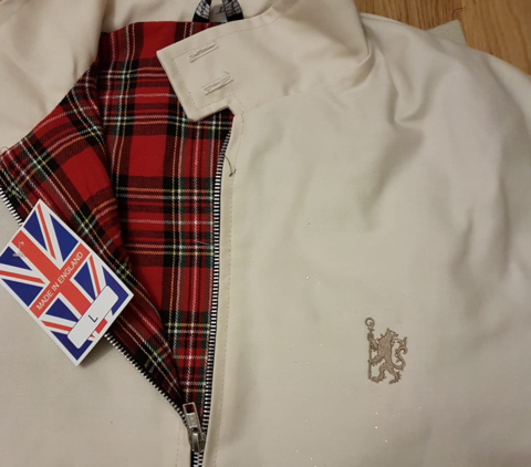 Harrington,Jacket,(Stone-Gold,Logo)