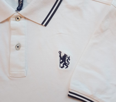 White,'Lion',Polo,Chelsea FC polo shirt