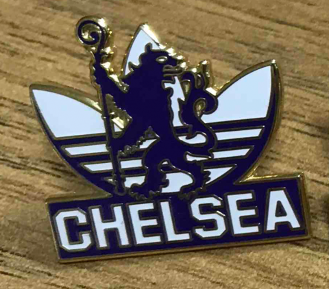 'Adidas,White',Badge,Pin,Chelsea FC enamel badge pin adidas trainer souvenir PL casual