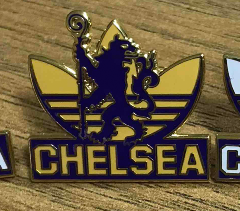'Adidas,Yellow',Badge,Pin,Chelsea FC enamel badge pin adidas trainer souvenir PL casual