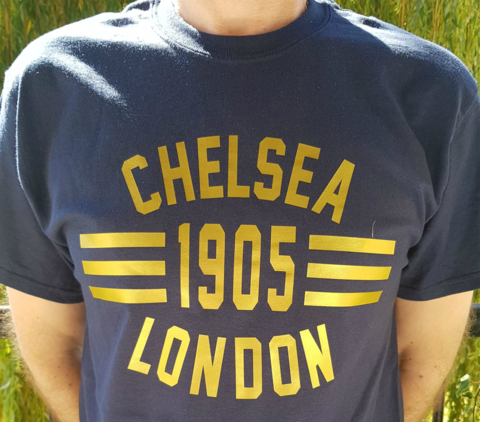 'Loud,and,Proud',T-Shirts,GOLD,(Adults,Kids),Chelsea FC tee t shirt 'loud and proud' London Chelsea 1905