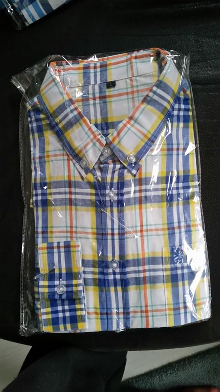 Lion cotton shirt (White+Yellow+Blue) - product image